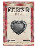 ICE Resin® Milan Bezels: Antique Silver Medium Heart, 1pc.
