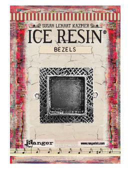 ICE Resin® Milan Bezels: Antique Silver Medium Square, 1pc.