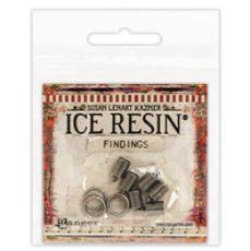 ICE Resin® Findings 6mm End Caps & Jump Rings: Antique Silver