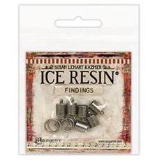 ICE Resin® Findings 7mm End Caps & Jump Rings: Antique Silver