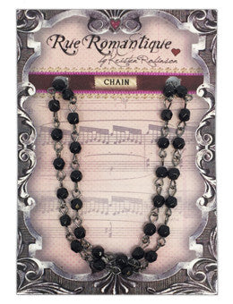 Rue Romantique Finished Chain- 4mm Jet Fire Polish 18""