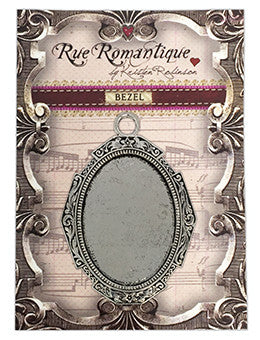 Rue Romantique Large Oval Antique Silver Closed Bezel, 1 pc.