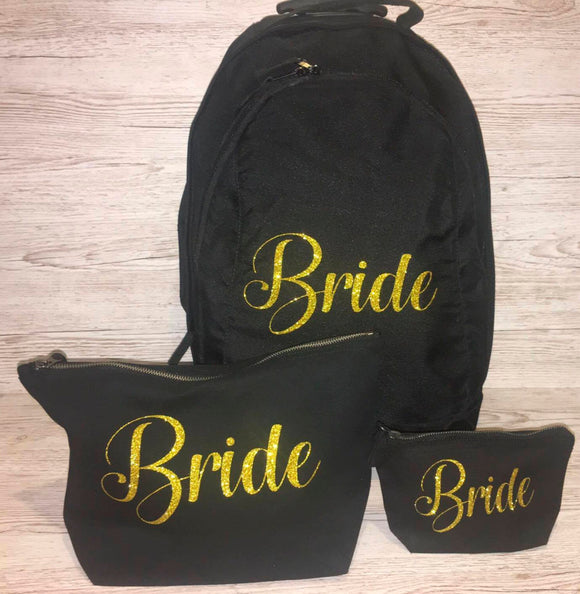 Wedding Bride Suitcase and Make Up Bags