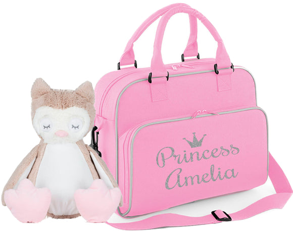 Princess or Prince with crown and name personalised bag