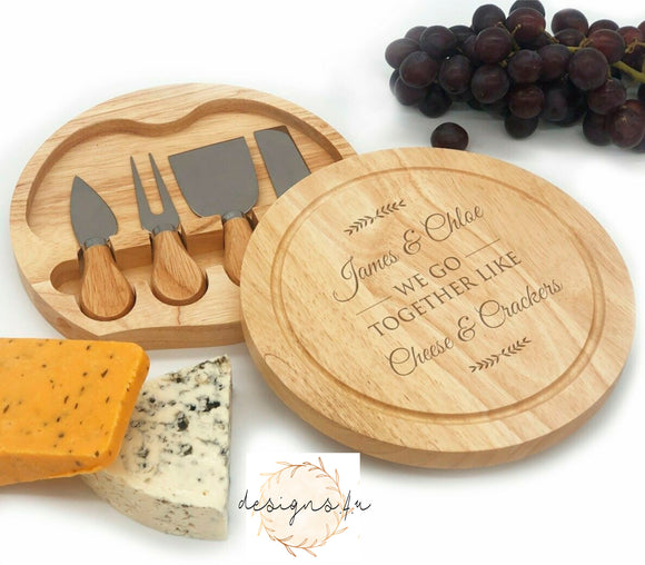 Cheeseboard Set ~ We Go Together Like Cheese And Crackers
