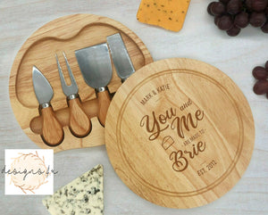 Cheeseboard Set ~ You And Me Are Made To Brie