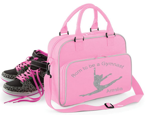 'Born To Be A Gymnast' Personalised Bag