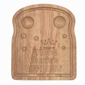 Dippy Egg Toast Shaped Board - Prince Personalised