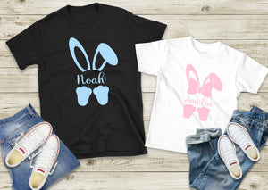 Personalised Easter Bunny T Shirt with Name Girl Boy