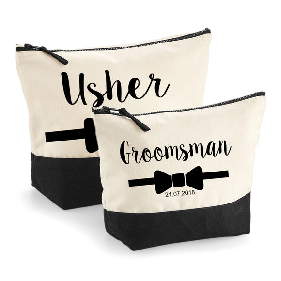 Personalised Groom/Best Man/Groomsman/Usher Toiletry Wash Bag Wedding Day Gift