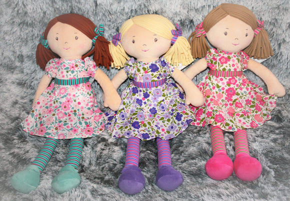 Personalised Rag Doll Baby Toy Gift Christening Bridesmaid Christmas Baptism