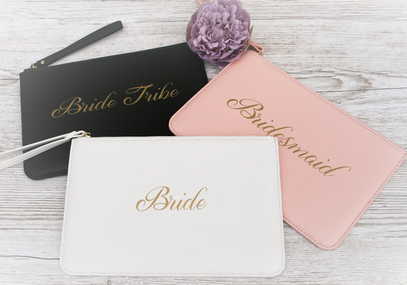 Wedding Bride Bridesmaid Hen Party Clutch Bag Bridal Gift