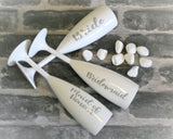 Wedding Champagne Flutes with Title or Name