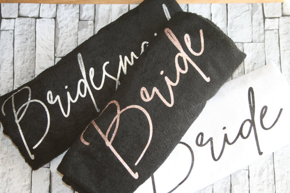 Personalised Beach Towel Wedding Bride Bridesmaid Honeymoon Hen Party Gift