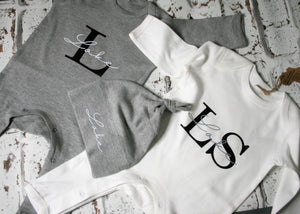 Personalised Long Sleeve Baby Romper Babygrow All in One
