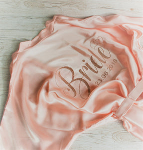 Wedding Bride Bridesmaid Hen Party Dressing Gown personalised