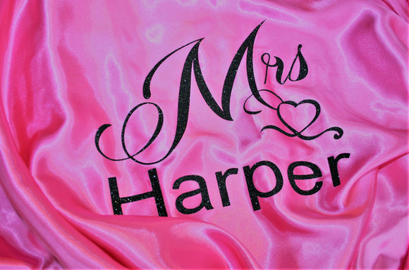 Personalised Wedding Bride Mrs Dressing Gown