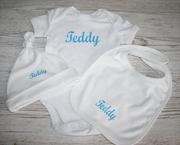Baby Monogram Set Personalised with Name or Initials