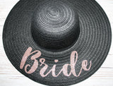 Personalised Straw Hat ~ Hen Party, Honeymoon Beach Hat