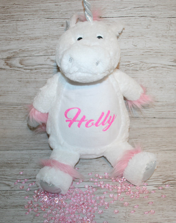 Unicorn Teddy Bear personalised