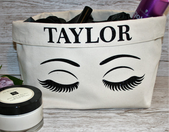 Personalised Make Up Organiser Storage Tub