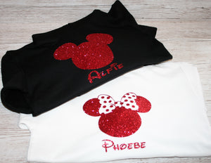 Personalised Minnie Mouse and Mickey Mouse Hoodie