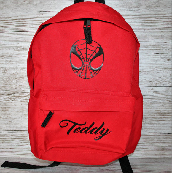 Personalised Spider Man Rucksack