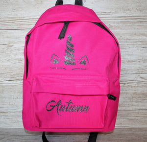 Personalised Unicorn Rucksack Backpack