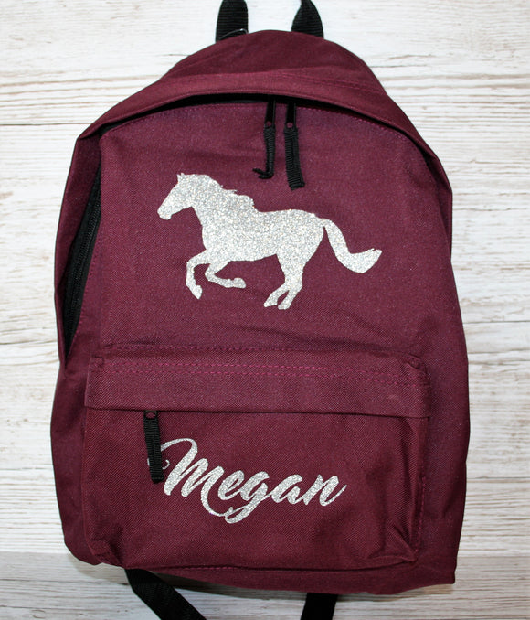 Personalised Horse Pony Rucksack Backpack