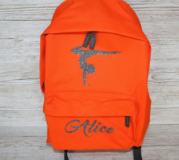 Personalised Gymnastics Rucksack Backpack
