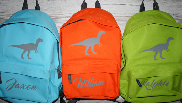 Personalised Dinosaur Rucksack Backpack