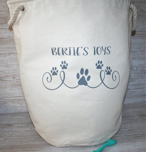 Personalised Heavy Canvas Storage Tub Dog Toys