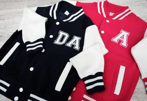 Varsity Jacket Sweater Personalised with Initials