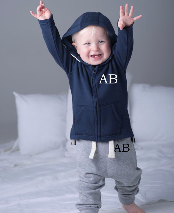 Initial Baby Hooded Track Suit