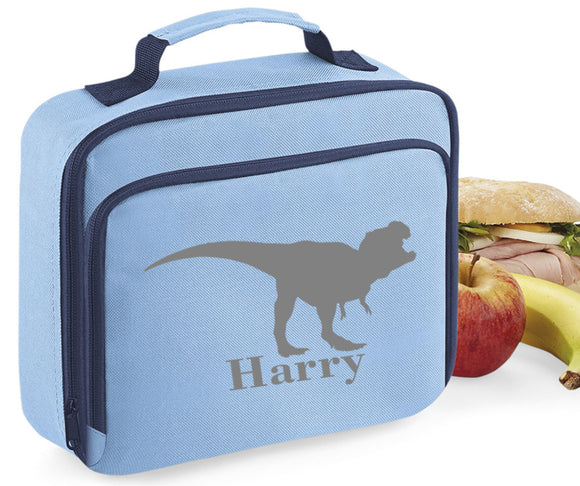 Personalised Name Dinosaur Lunch Box Bag School Bags Custom Bag