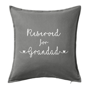 "Reserved for ""name"" - Grandad, Grandma, Nana, Nanny, ~ Personalised Cushion Pillow including infill"