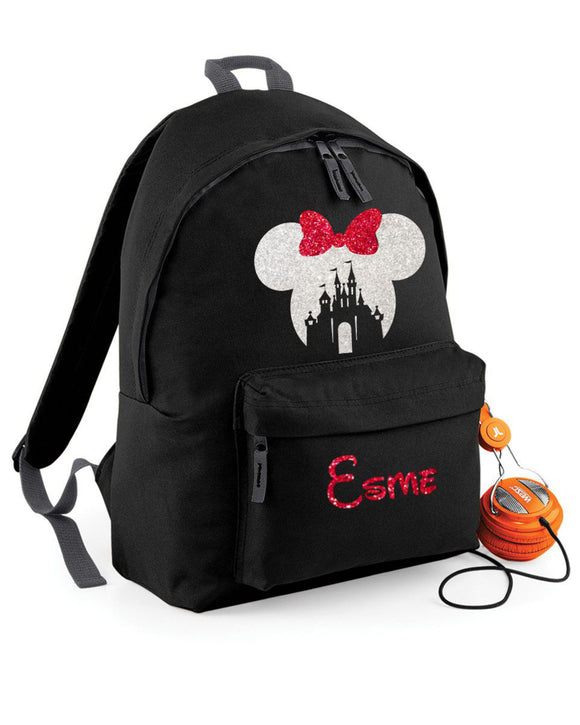 Personalised Mickey Minnie Mouse Disney Rucksack Backpack Bag