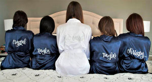 Personalised Satin Dressing Gown Robe ~ Weddings, Hen Party