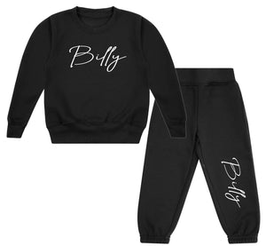 Tracksuit Personalised with signature name sweatshirt/sweatpants  - lounge wear kids