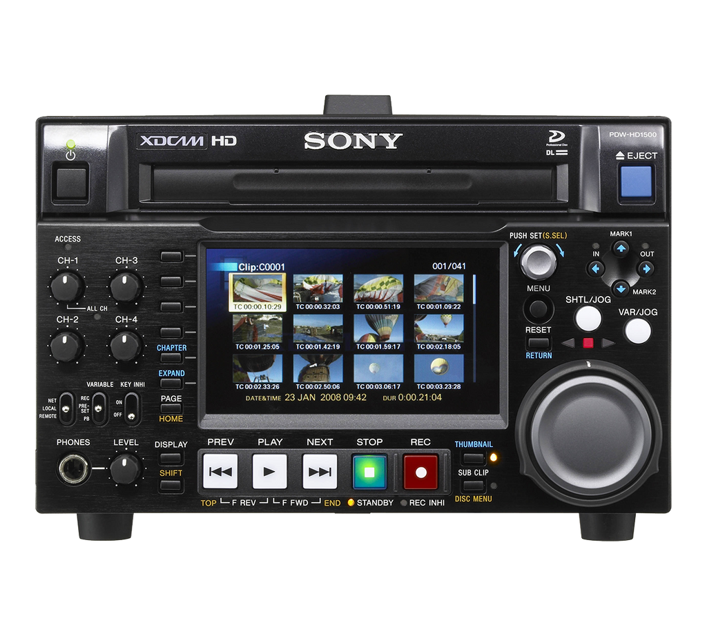 Sony PDW-HD1500 XDCAM HD Compact Deck