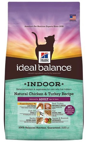 Hill's Ideal Balance Indoor Natural Chicken & Turkey Recipe Adult Dry Cat Food