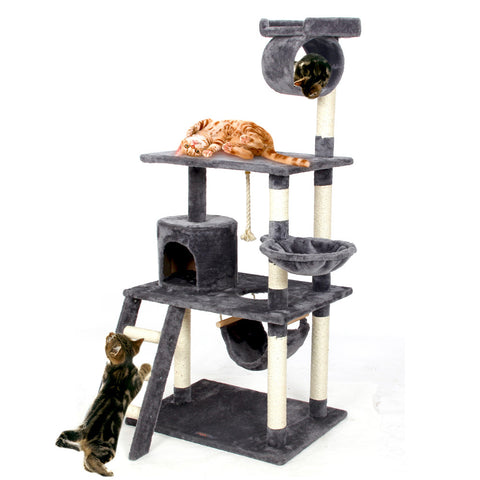 Cat Climbing Frame | Multi-layer Cat Tree with Cat Scratching Posts and Lofted Condo