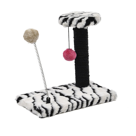 Furniture and Cat Scratching Toy- Cat Post Wood Climbing Tree Cat Jumping Standing Frame Cat Furniture Crazy Hanging Spring Balls