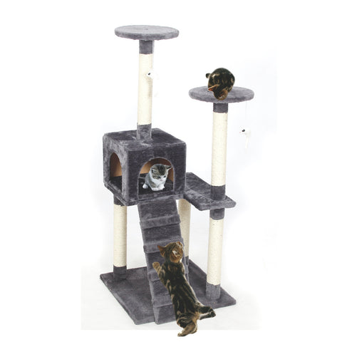 Pawz Road Deluxe Velvet Fabric Cat Tree