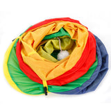 Cat Tunnel Toy - Colorful Style Pet Supplies 4 Holes