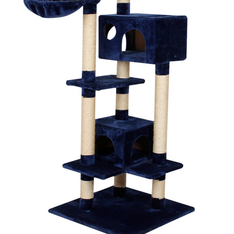 Pawz Road Blue Cat Scratcher Climbing Activity Tree w/ Top Ball Training Toy
