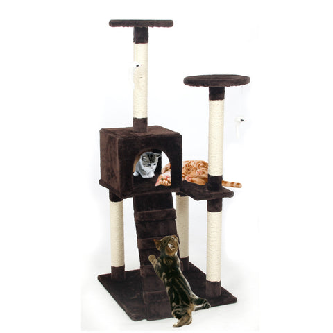 Pawz Road Cat Climbing Tree | Wooden Scratching Post for Cats