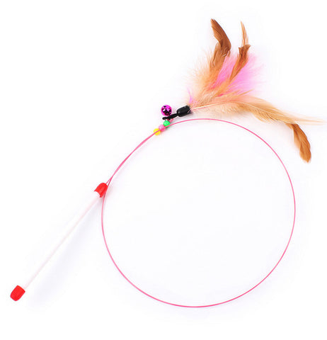 cat toy Cute Design Steel Wire Feather