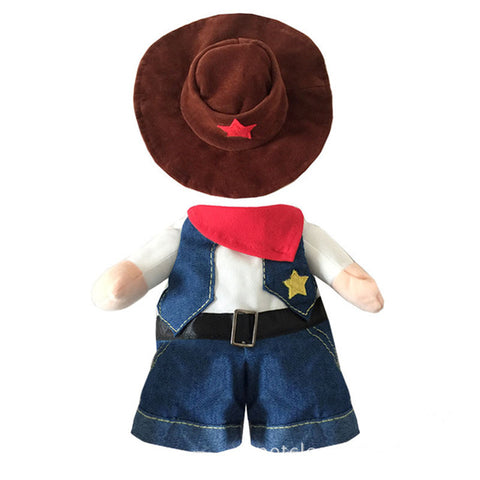 Funny Pet Costume Cowboy Cosplay