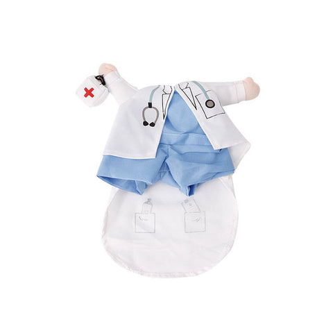 Cat Clothes Costume| Dress Doctor Policeman Cowboy Suit Outfit Cotton Apparel S M L